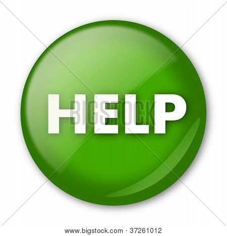 Green help button