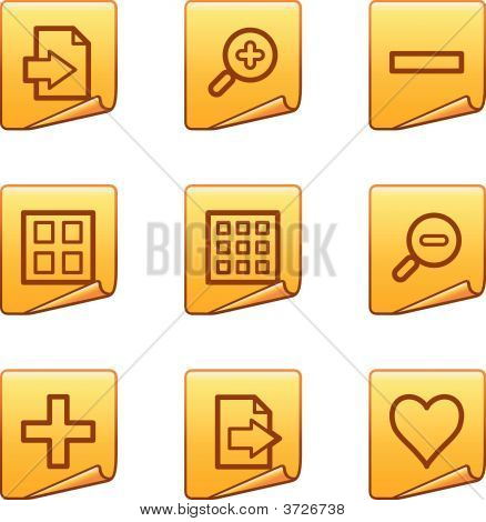 Image Viewer Icons Gold Sticker Series
