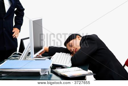 Boss Angry At The Sleeping Secretary