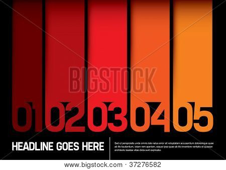 vector of abstract color chart and layout