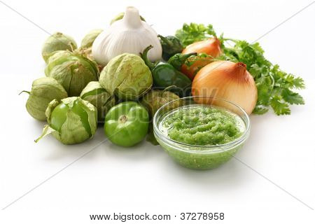 tomatillo salsa verde ingredients, mexican cuisine
