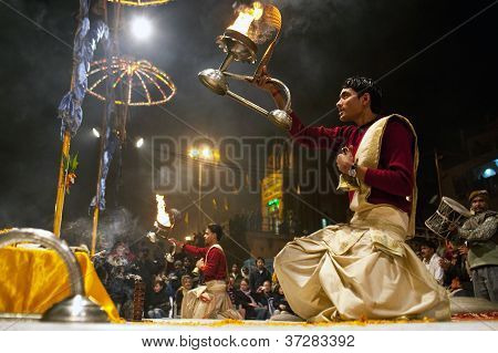Ganga aarti ceremony, India