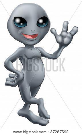Little Cute Grey Alien