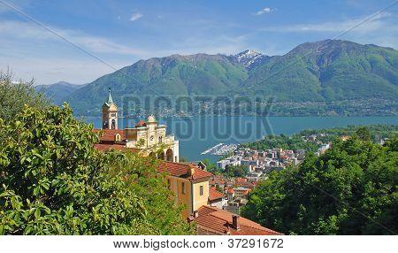 Madonna del Sasso,Lake Maggiore,Switzerland