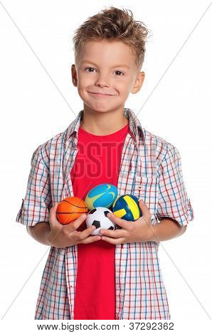 Boy with small balls