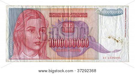 One Billion Dinar.