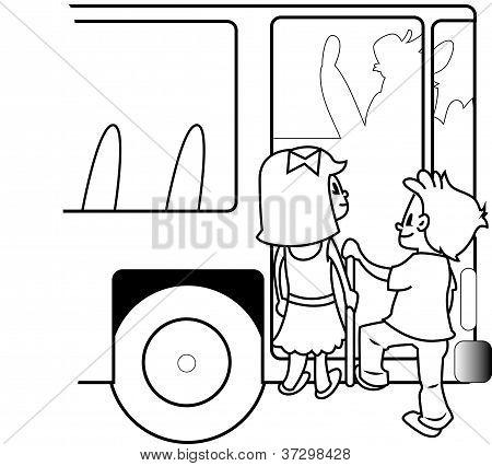 Bus Travel Children