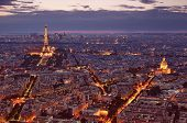 Paris Skyline at night.