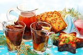 Dried Fruit Compote And Cakes For Christmas