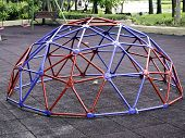 pic of geodesic  - Colorful geodesic dome in schoolyard or playground outdoor - JPG