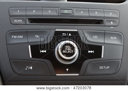 Car Audio System Panel