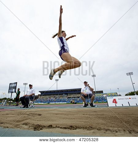 Long Jump Woman Leap Sky Canada