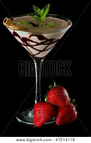 Morango Chocolate Martini