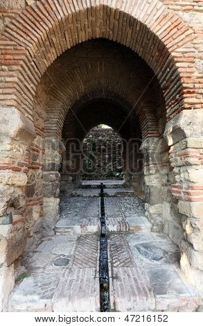 Gate In The Alcazaba Of Malaga, Spain