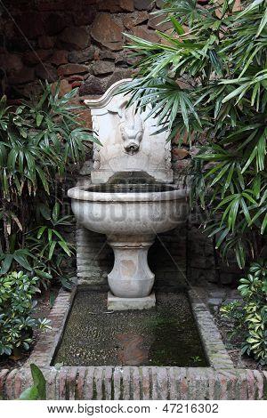Moorish Well In Alcazaba Of Malaga