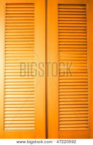 Wooden Door With Air Flow Pronounced Texture