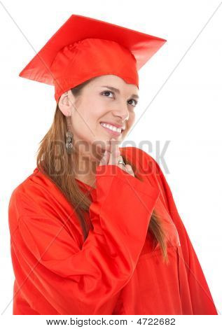 Thoughtful Graduation Woman