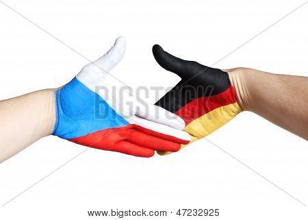 Handshake Between Czech Republic And Germany