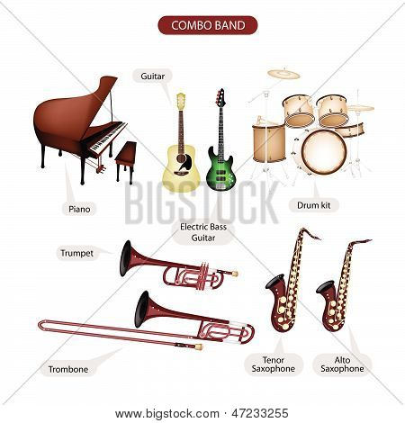 A Set Of Combo Brand Music Equipment