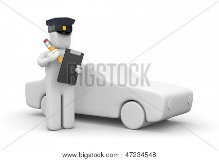 Police officer writing a ticket