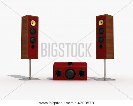 Audio Speaker And Sub-woofer