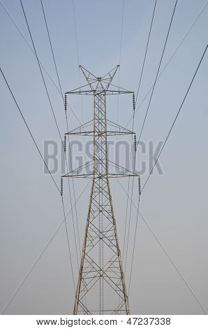 electricity post , The high-tension ,