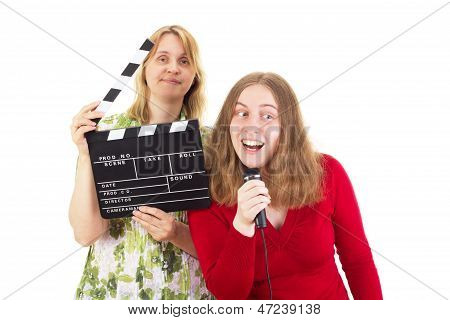Two Women Working In The Entertainment Industry