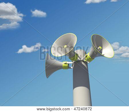 broadcasting megaphones