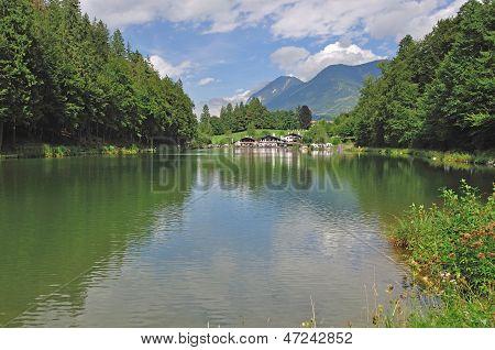Lake Riessersee,Garmisch-Partenkirchen,Bavaria
