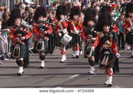 The St. Patrick's Day Parade, Birmingham, The Uk - March 16 2009