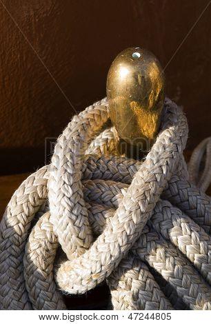 Ropes On Belaying Pin Detail