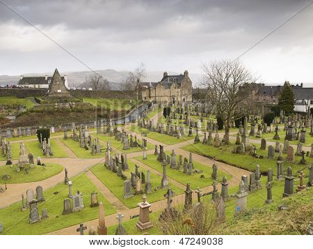 Scottish Cemetery In Stirling (scotland)