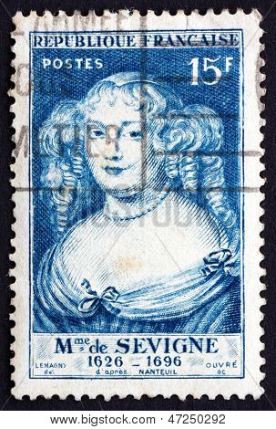 Postage Stamp France 1950 Marie De Rabutin-chantal, Marquise