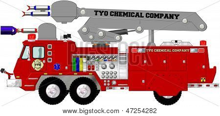 Chemical Plant Fire Engine