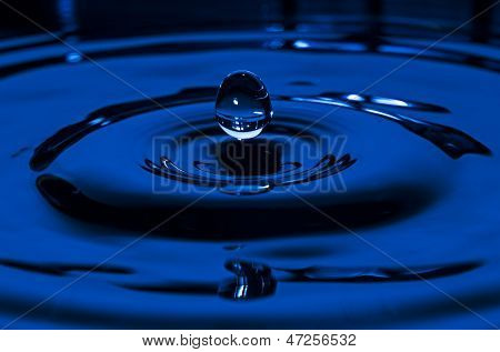 Suspended Blue Waterdrop