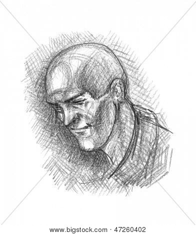 Head. Hand drawn.