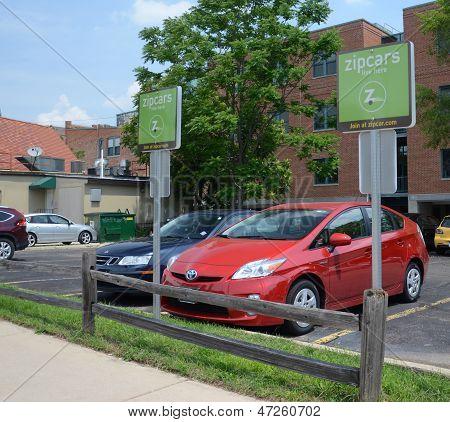 Lote de Zipcar en Ann Arbor