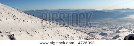 Winter Mountain Panorama From Mount Ararat Track