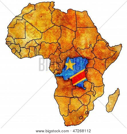 Democratic Republic Of Congo On Actual Map Of Africa