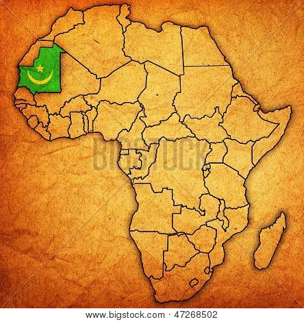 Mauritania On Actual Map Of Africa