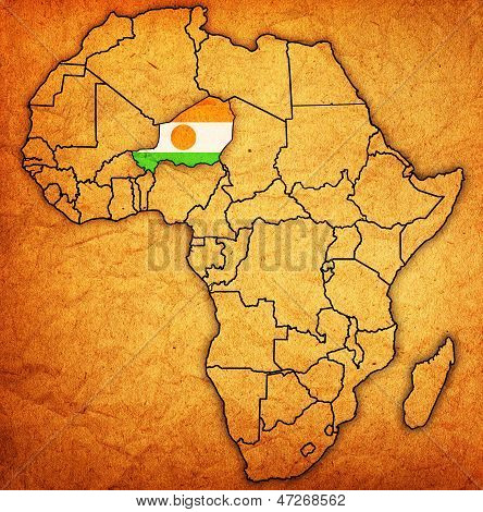Niger On Actual Map Of Africa