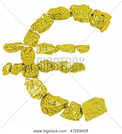 Euro Symbol Goldl Nugget