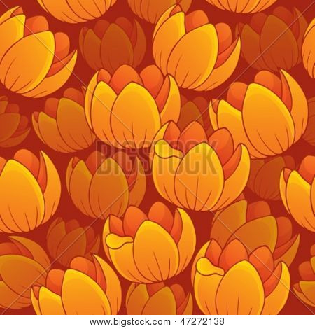 Seamless background flowery topic 1 - eps10 vector illustration.