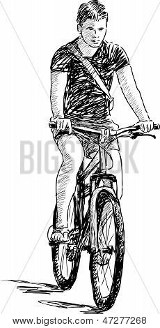 Boy Riding A Cycle.eps