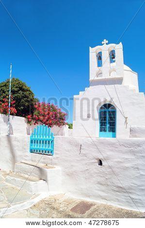 Belfry At Blue Sky On Sifnos Island, Greece