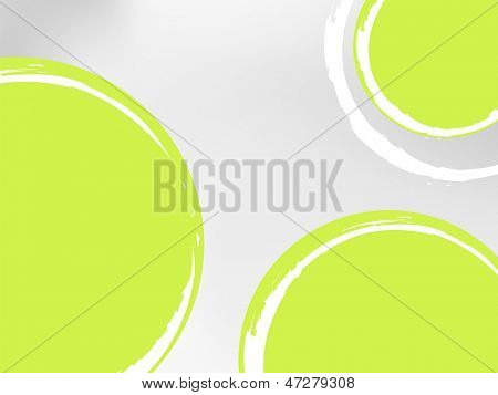 Green abstract background circles against grey to white wallpaper gradient - spring template design - abstract lemon fruit slices