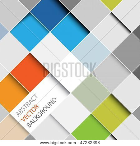 Vector abstract squares background illustration with place for your text