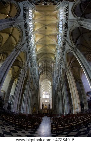 interior of Cathedral Notre Dame, Amiens, Picardy, France