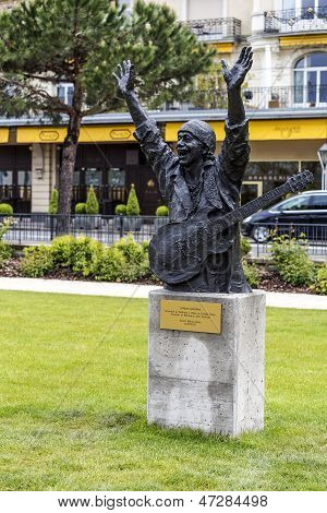 Statue To Carlos Santana In Montreux