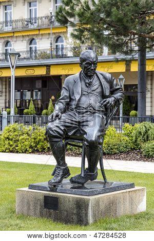 Statue To Vladimir Nabokov In Montreux